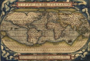 One of the first maps of the world was created by a Dutch artist, thanks in part to Dutch exploration teams. Abraham Ortelius, Typus Orbus Terrarum, 1564.