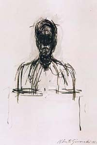A fake Giacometti executed by Myatt, dated 1955. Photonews Service/Old Bailey. (from museum-security.org)