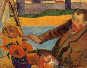 Paul Gauguin, Portrait of van Gogh Painting Sunflowers, 1888. Oil on canvas, 73 x 91 cm, The Van Gogh Museum, Amsterdam.