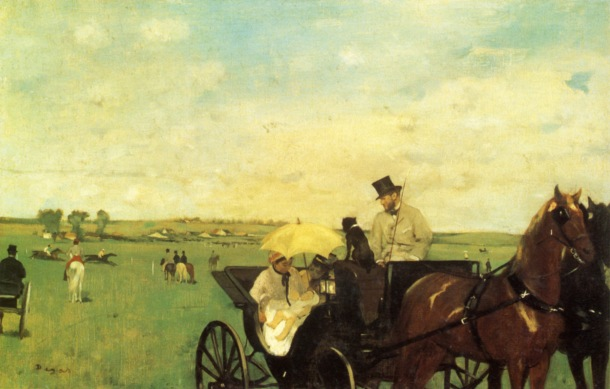 Degas, A Carriage at the Races, 1869.