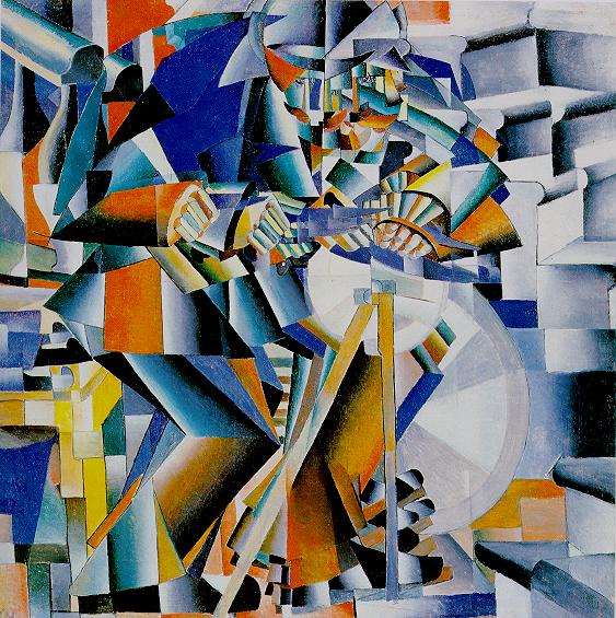 """Have you guessed what it shows yet? Does it help If I tell you that it is titled """"The Knife-grinder"""" (1912)."""