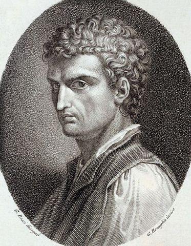 Alberti: laughing on the inside. From Della pittura e della statua, Societa Tipografica de' Classici Italiani, Milano (1804)