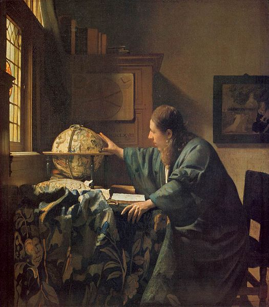 Vermeer, The Astronomer, 1668.