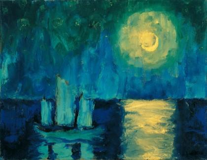 Moonlit Night, oil on canvas, 1914.