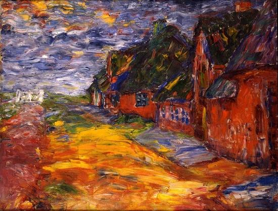 Frisian Houses, 1910, oil.