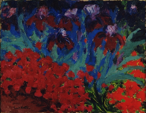 Blue and Violet Flowers, 1916, oil on canvas.