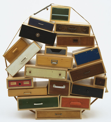 """Another belt/drawer solution. Tejo Remy, """"You can't Lay Down Your Memory"""" chest of drawers, 1991."""