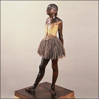 Little Dancer Aged Fourteen, 1881, Yellow wax, hair, textile, National Gallery of Art