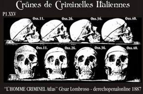 Criminals' skulls were believed to be an evolutionary throwback.