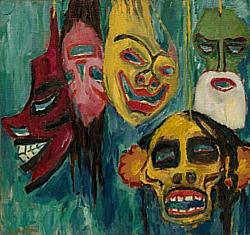 Mask Still Life III, 1911, oil on canvas.