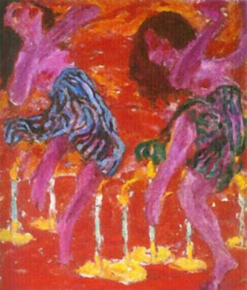 The Candle Dancers, 1912, oil on canvas.