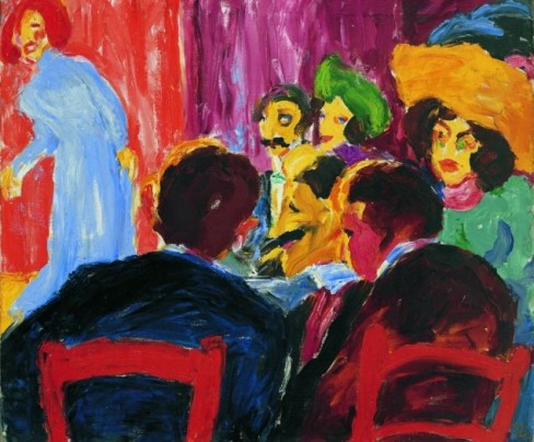 Spectators at the Cabaret, 191, Oil on Canvas