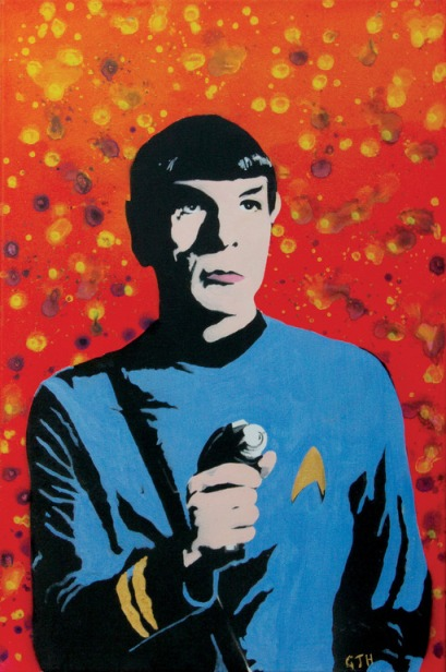 Case in point. Gary Hogben, Mr Spock, Aerosol paint on canvas.