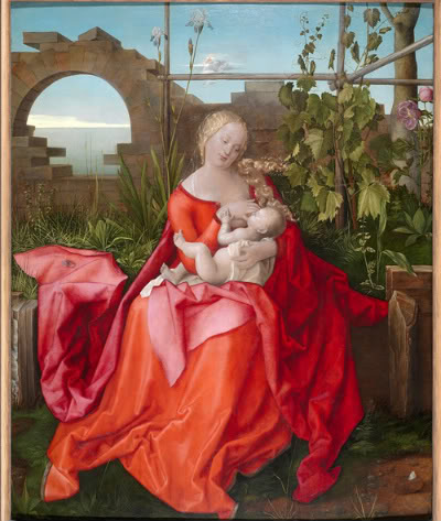 Here the artist has used the flowers for complex symbolism around the Madonna and Child. Still, look how carefully he's observed the actual plant.Albrect Durer, The Madonna with the Iris, 1500-10, oil on lime, The National Gallery.