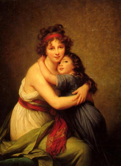Madame Vigée Le Brun and her Daughter, 1789.