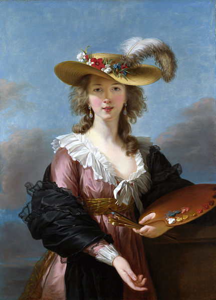 See the similarities? Vigée Le Brun lamented that engravings made after the original missed the effect of the Rubeneque colours. Self Portrait in Straw Hat, 1782.
