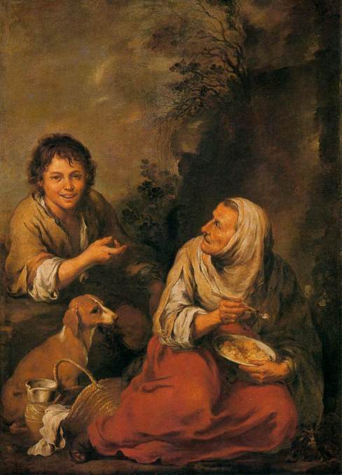 You never know when a Murillo painting is going to pop out at you.  Old Woman and Boy, Oil on canvas, 146 x 106 cm Wallraf-Richartz-Museum, Cologne