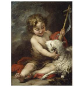Best friends. The Infant Saint John Playing with a Lamb, 1670-1680, Oil on canvas, 61 x 44 cm, The National Gallery of Ireland