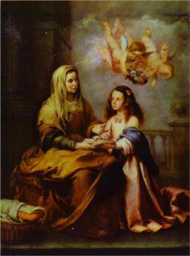 The Childhood of the Virgin, The Prado