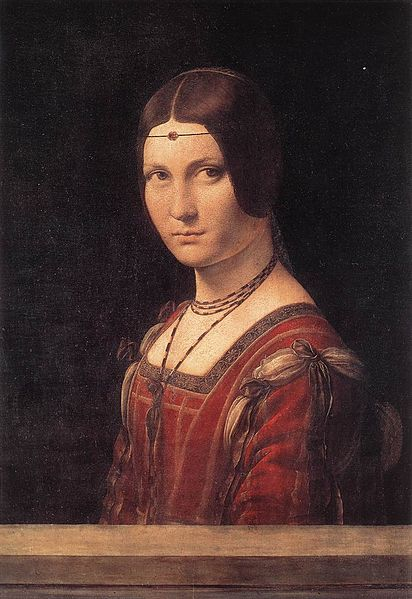 Milanese Circle of Leonardo, Oil on wood, 62 cm x 42 cm (24 in × 17 in), Musée de Louvre, Paris.