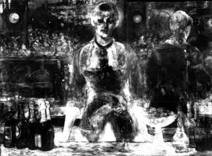 Edouard Manet, X-ray of 'A Bar at the Folies-Bergère' © The Samuel Courtauld Trust, The Courtauld Gallery, London