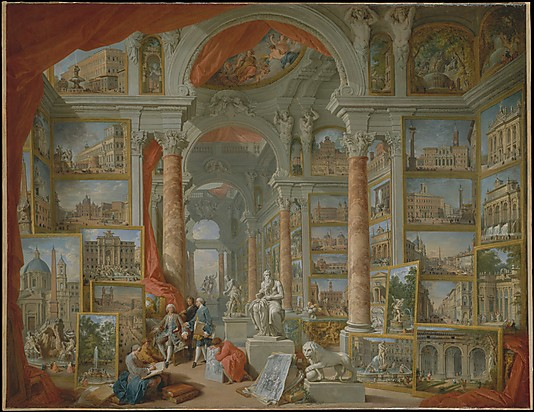 Modern Rome, 1757. Oil on canvas, 67 3/4 x 91 3/4 in. (172.1 x 233 cm), New York, Metropolitan Museum of Art.