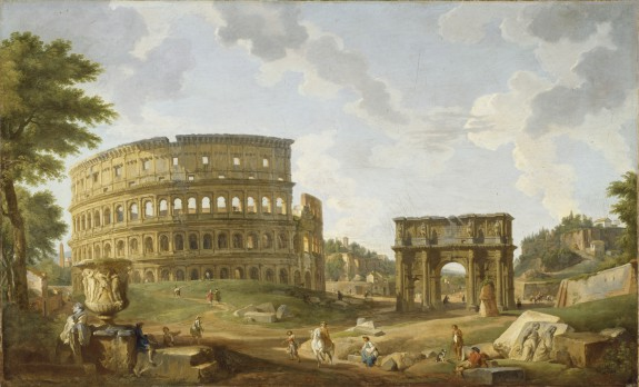 One such tourist painting - View of the Colosseum, 1747, oil on canvas, 32 5/16 x 52 7/16 in. (82 x 133.2 cm),  The Walters Art Museum.