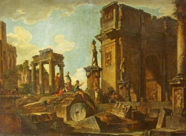 Classical Ruins with the Arch of Constantine, oil on canvas, 97 x 134.5 cm, National Trust: Stourhead.
