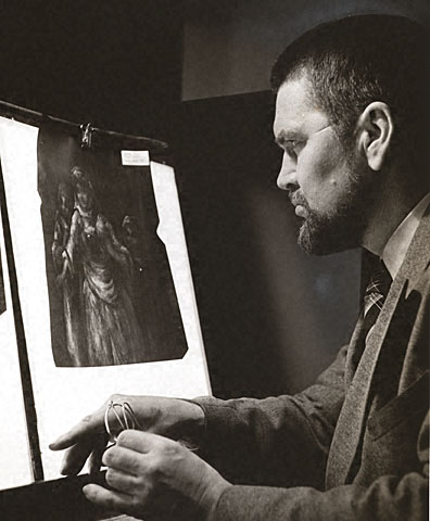 Alan Burroughs with a shadowgraph, 1941