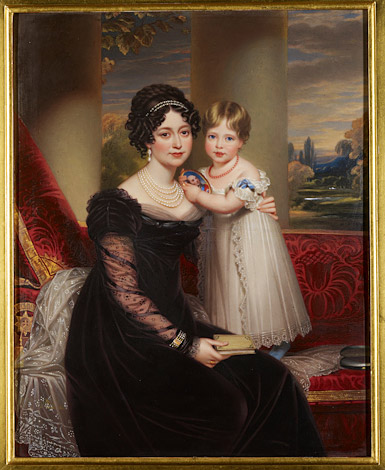 Henry Bone, Princess Victoria and her mother, the Duchess of Kent, c.1824. Royal Collection Trust © HM Queen Elizabeth II 2012 RCIN 404239