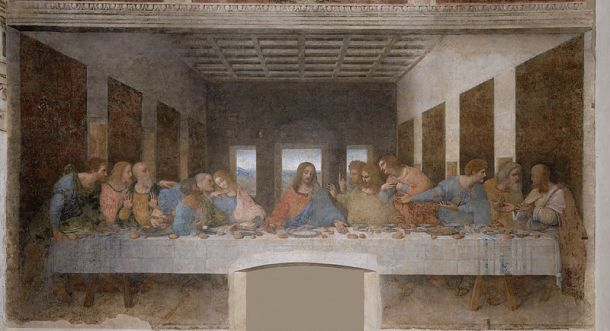 Vasari's high opinion of The Last Supper has endured. 1499, fresco, in the refectory of the Dominican convent of Santa Maria delle Grazie, Milan.