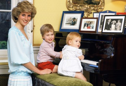 Princess Diana Spencer, Prince William and Prince Harry. Tim Graham, Getty Images, 1985.