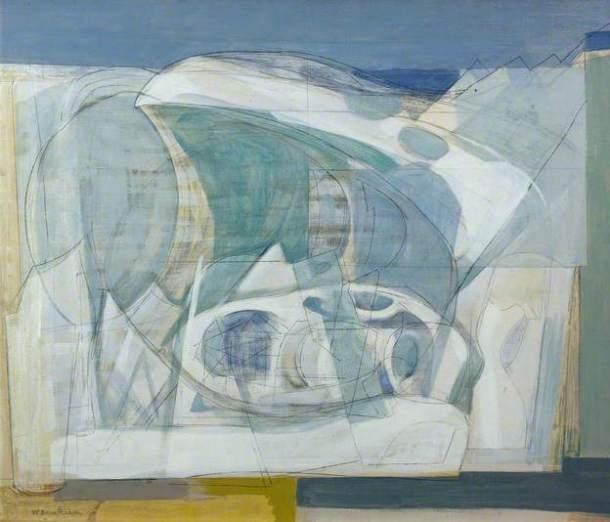Wilhelmina Barns-Graham, Upper Glacier, 1950. Oil on canvas, 39.4 x 62.9 cm, British Council Collection.