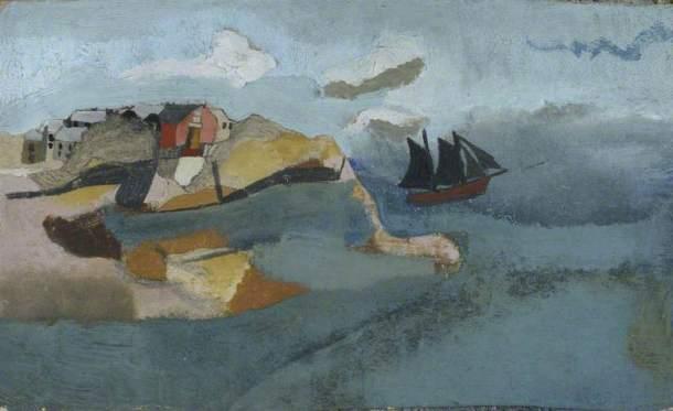 Ben Nicholson, Cornish Port, c. 1930. Oil on card, 21.5 x 35 cm, Kettle's Yard, University of Cambridge.
