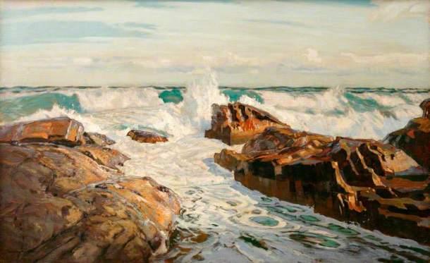 Robert Borlase Smart, Morning Light, St Ives, 1922. Oil on canvas, 64 x 105.5 cm, Royal Institute of Cornwall.