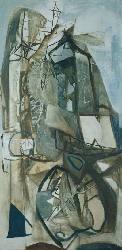 Peter Lanyon, Porthleven, 1951. Oil paint on board, 2445 x 1219 mm, Tate.