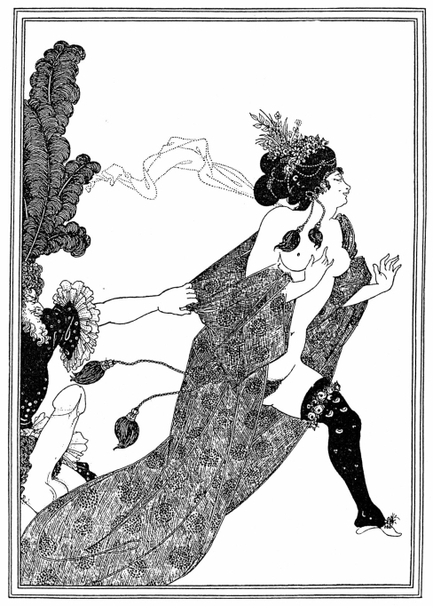 "Cinesias entreating Myrrhina to coition. Illustration from ""Lysistrata"", 1896"