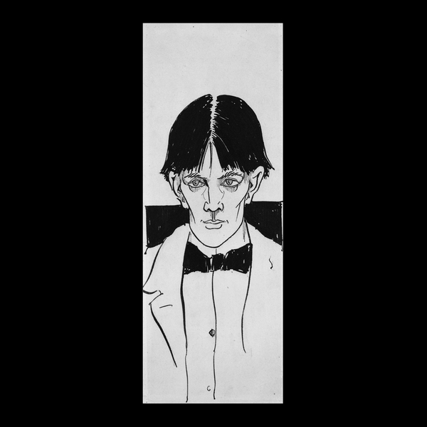 Aubrey Beardsley, Self Portrait, 1892. Pen and ink wash, 25 x 9 cm, London: The British Museum