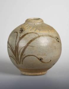 Bernard Leach, Spherical Vase, c. 1927. Reduced stoneware, 145 x 140 x 140 mm, Tate Britain.