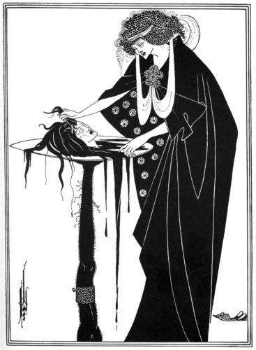 The Dancer's Reward, by Oscar Wilde, published 1893. 16 x 22.7 cm, graphite.