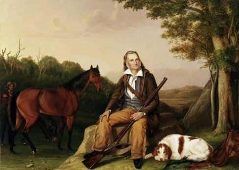ohn James Audubon, painted at Minnie's Land in 1841 by John Woodhouse Audubon and Victor Audubon for Lewis Morris (44 x 60 in), image #1822. Courtesy of the American Museum of Natural History Library, New York, New York.