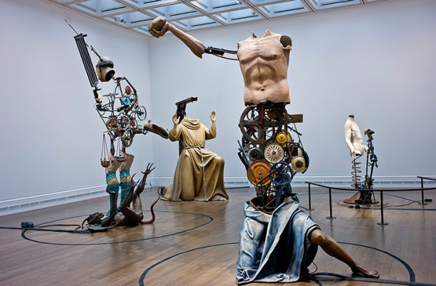 Some of Landy's sculptures. Photo by Sarah Lee for the Guardian.