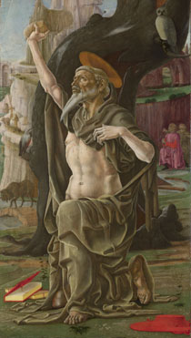 Cosimo Tura, 'Saint Jerome', probably about 1470. Oil on panel, 101 x 57.2 cm, The National Gallery.