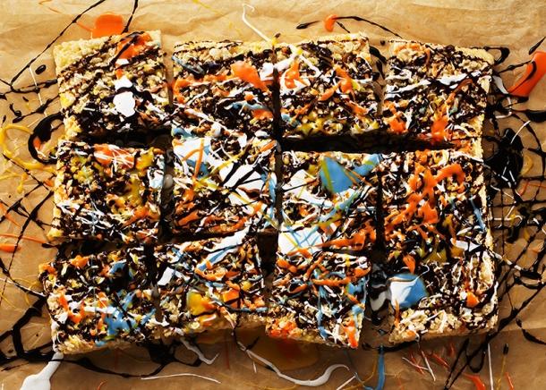 "Heather Meldrom and Michelle Gatton, Jackson Pollock ""Rice Krispie Treats"" Photo © Sarah Anne Ward"