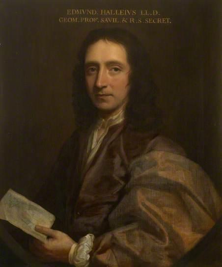 Thomas Murray, Edmond Halley, c.1690 Oil on canvas, 76.5 x 63.9 cm, The Royal Society.
