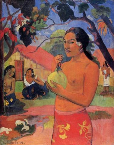Paul Gauguin, Woman Holding a Fruit, 1893. Oil on canvas 92.5 x 73.5 cm, The Hermitage Museum, St Petersburg.