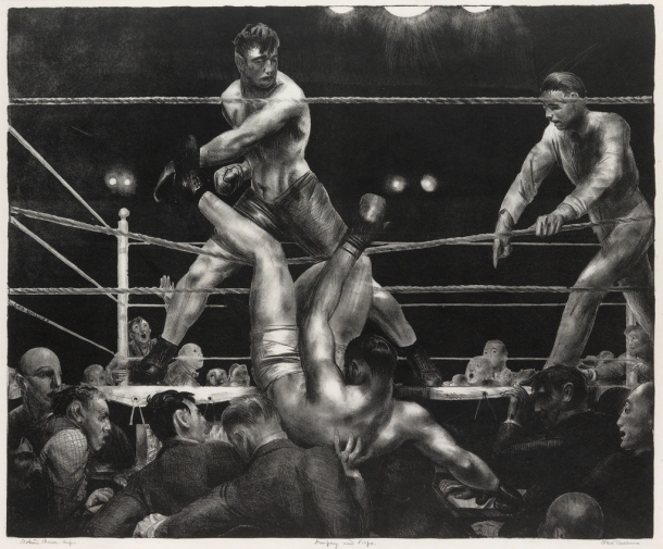 George Bellows, Dempsey and Firpo, lithograph, 1923-24.