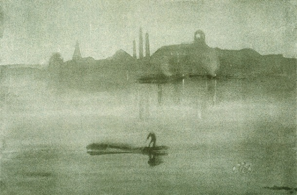 James McNeill Whistler, Nocturne: The Thames at Battersea, 1878. Lithograph, 7.1 x 25.7 cm, New York: Metropolitan Museum.