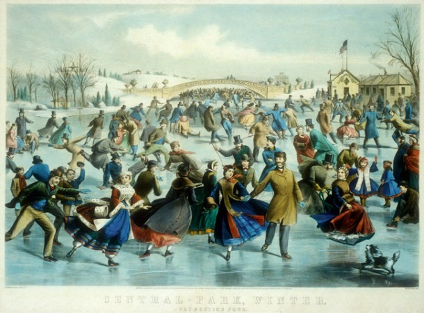 Charles Parsons, Central Park in Winter, 1862. Lithograph, 46 x 67.5 cm, New York: Metropolitan Museum.
