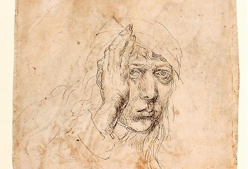 Self-Portrait by Dürer (circa 1491). Image: Graphische Sammlung der Universitat Erlangen, Inv B155. Courtesy of Courtauld Institute of Art.